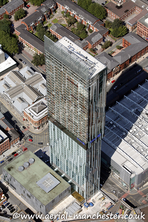 aerial photo of beetham tower