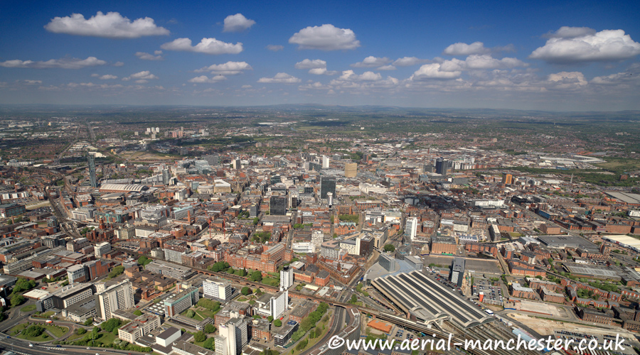 panoramic aerial photograph of